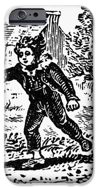 BEWICK: BOY WITH HOOP iPhone Case by Granger
