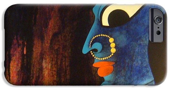 Hindu Goddess iPhone Cases - Bhadrakali iPhone Case by Sonali Chaudhari