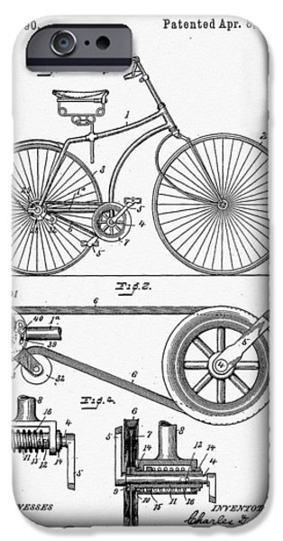 Bill Cannon iPhone Cases - Bicycle Patent 1890 iPhone Case by Bill Cannon