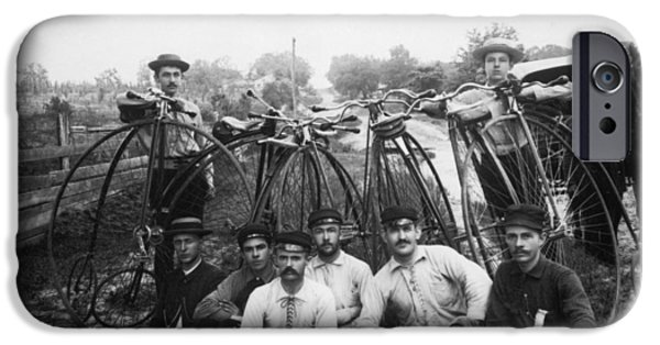 1880s iPhone Cases - BICYLE RIDERS, c1880s iPhone Case by Granger