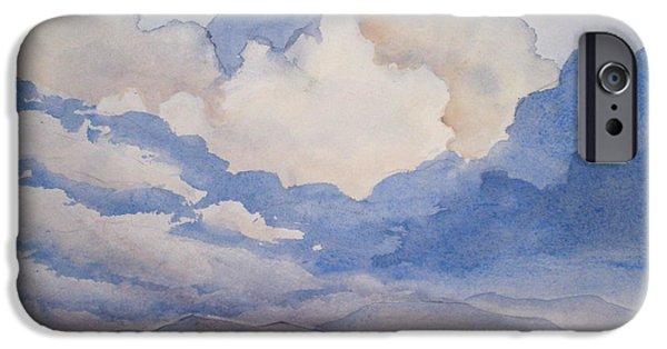 Bales Paintings iPhone Cases - Big Alberta Sky iPhone Case by Mohamed Hirji