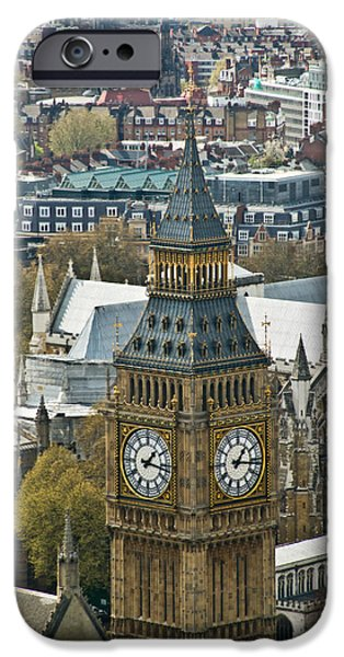 Briton iPhone Cases - Big Ben Up Close and Personal iPhone Case by Douglas Barnett