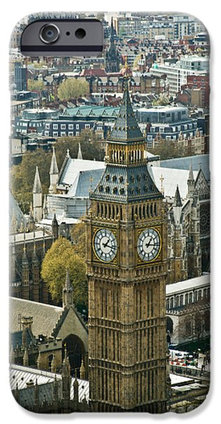 Briton iPhone Cases - Big Ben Up Close iPhone Case by Douglas Barnett