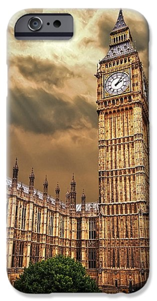Big Ben iPhone Cases - Big Bens House iPhone Case by Meirion Matthias