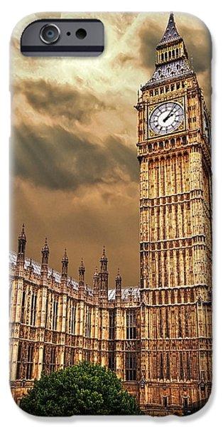 big ben's house iPhone Case by Meirion Matthias