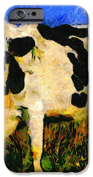 Big Bull 2 . 7D12437 iPhone Case by Wingsdomain Art and Photography