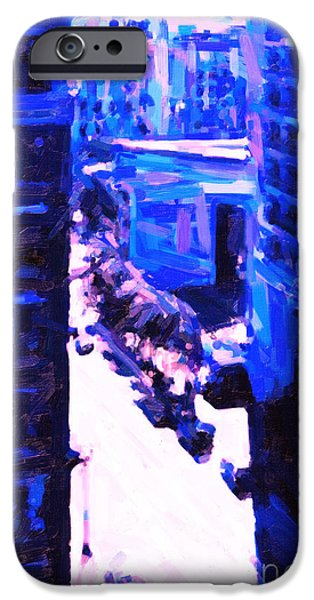 Big City Blues 2 iPhone Case by Wingsdomain Art and Photography