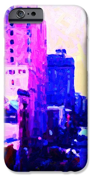 Big City Blues iPhone Case by Wingsdomain Art and Photography