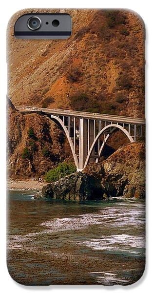 Big Creek Bridge Close iPhone Case by Jeff Lowe