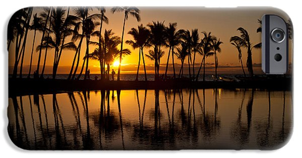 Big Island iPhone Cases - Big Island Sunset iPhone Case by Mike Reid