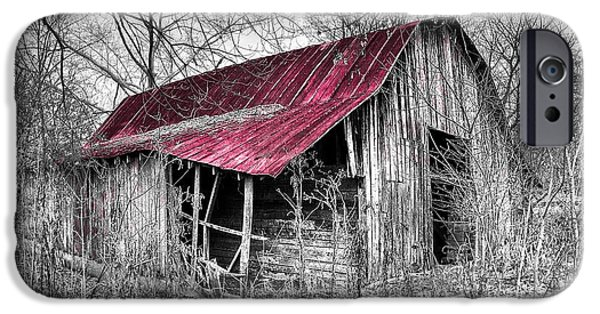 Red Roofed Barn iPhone Cases - Big Red iPhone Case by Debra and Dave Vanderlaan