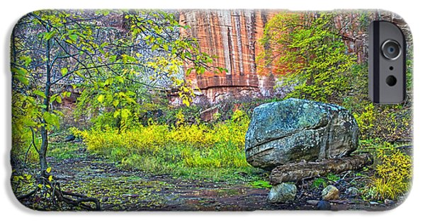 Oak Creek iPhone Cases - Big Rock iPhone Case by Brian Lambert