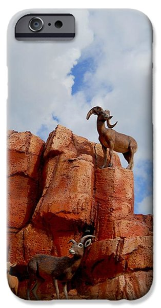 Red Rock iPhone Cases - Big Thunder Bighorns iPhone Case by Rachel E Moniz