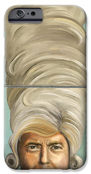 Big Hair iPhone Cases - Big Wig iPhone Case by Leah Saulnier The Painting Maniac