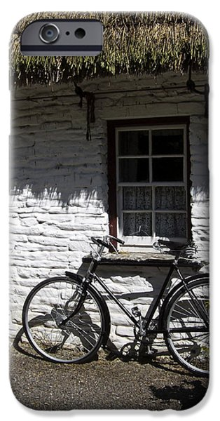Bike at the Window County Clare Ireland iPhone Case by Teresa Mucha
