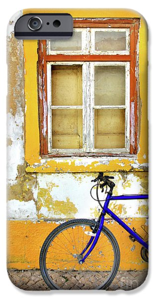 Facade iPhone Cases - Bike Window iPhone Case by Carlos Caetano