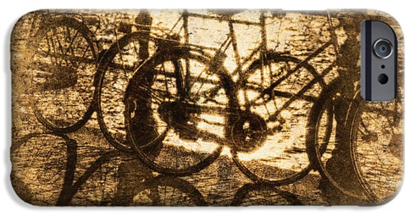 Useful iPhone Cases - Bikes On The Canal iPhone Case by Skip Nall