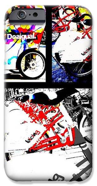 Biking in Barcelona iPhone Case by Funkpix Photo Hunter