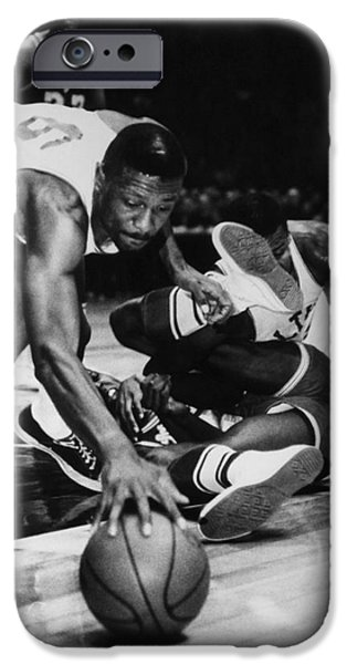Los Angeles Lakers iPhone Cases - Bill Russell (1934- ) iPhone Case by Granger