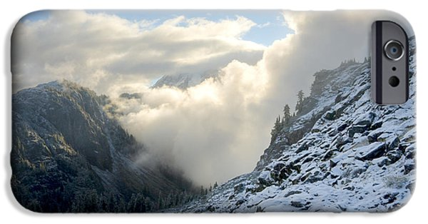 Engulfing iPhone Cases - Billowing Fog iPhone Case by Idaho Scenic Images Linda Lantzy