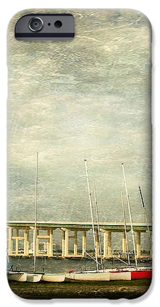 Biloxi Bay Bridge iPhone Case by Joan McCool