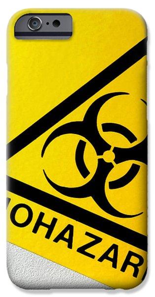 Biohazard Symbol iPhone Case by Tim Vernon, Nhs Trust