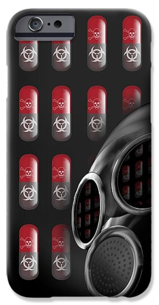 Biochemical iPhone Cases - Biological Warfare, Conceptual Image iPhone Case by Victor Habbick Visions