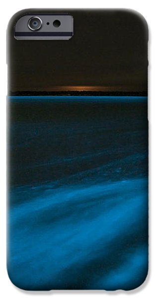 Bioluminescence In Waves iPhone Case by Philip Hart