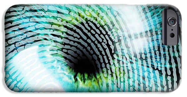 Civil Liberties iPhone Cases - Biometric Identification iPhone Case by Pasieka