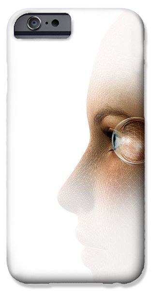 Biometric Recognition, Conceptual Artwork iPhone Case by Claus Lunau