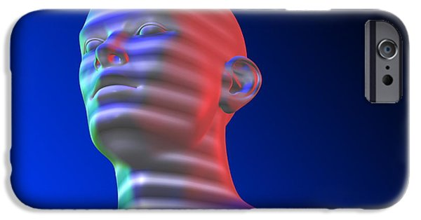 Face Recognition iPhone Cases - Biometric Scanning iPhone Case by Pasieka