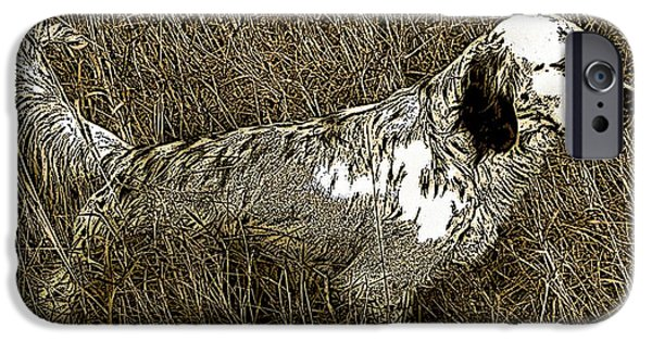Setter Pointer Art Digital Art iPhone Cases - Bird iPhone Case by George Pedro