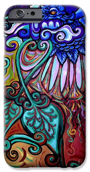 Gaia iPhone Cases - Bird Heart III iPhone Case by Genevieve Esson