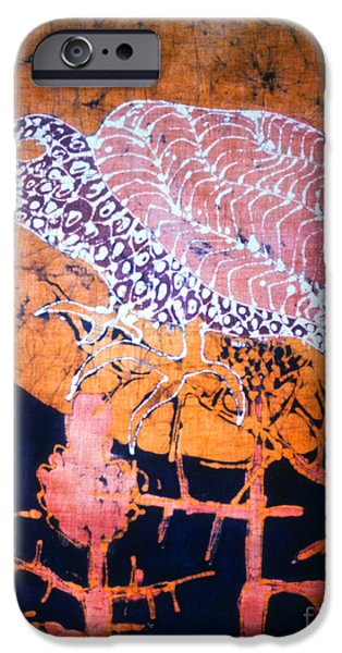 Sunset Tapestries - Textiles iPhone Cases - Bird on Thistle at Sundown iPhone Case by Carol Law Conklin