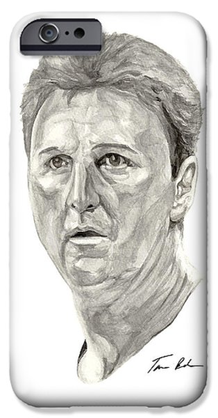 Larry Bird Paintings iPhone Cases - Bird iPhone Case by Tamir Barkan