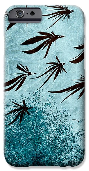Surrealism Digital iPhone Cases - Birdeeze -v03 iPhone Case by Variance Collections