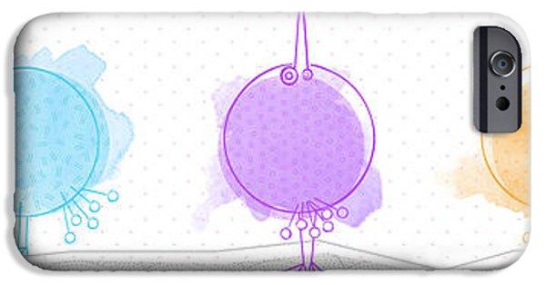 Baby Bird iPhone Cases - Birdies iPhone Case by Nomi Elboim