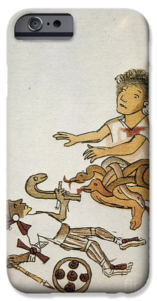Serpent iPhone Cases - Birth If Huitzilopochtli, 16th Century iPhone Case by Photo Researchers