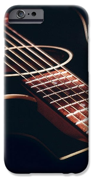 Black Acoustic Guitar iPhone Case by Mike McGlothlen