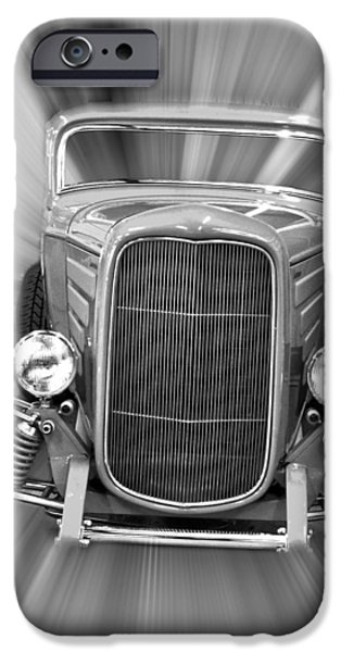 Black and White 32 Ford iPhone Case by Steve McKinzie