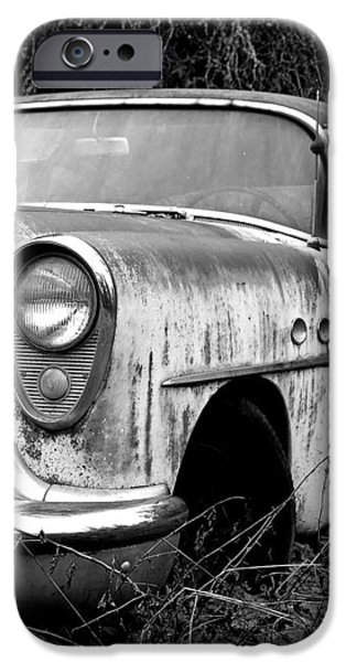 Black and White Buick iPhone Case by Steve McKinzie