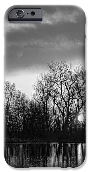 Black and White Sunrise Over Water iPhone Case by James BO  Insogna