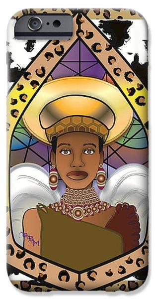 BLACK ANGEL iPhone Case by BRENDA DULAN MOORE