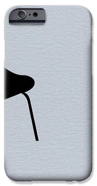 Black Chair iPhone Case by Naxart Studio