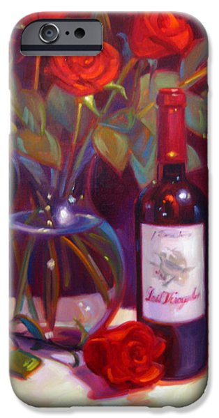 Wine Reflection Art iPhone Cases - Black Cherry Bouquet iPhone Case by Penelope Moore