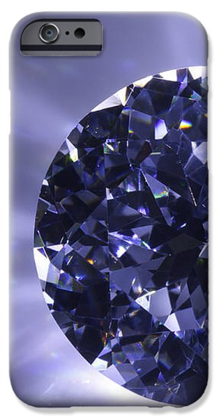Close Jewelry iPhone Cases - Black Diamond Shine Aura. iPhone Case by Atiketta Sangasaeng