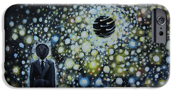 Political Allegory iPhone Cases - Black Hole Man iPhone Case by Shelly Leitheiser