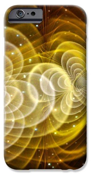 Black Holes Merging iPhone Case by Chris Henzenasa