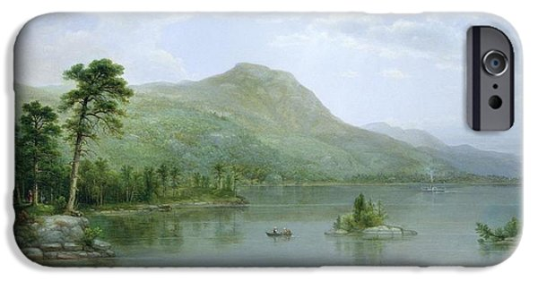 Hudson River iPhone Cases - Black Mountain from the Harbor Islands - Lake George iPhone Case by Asher Brown Durand