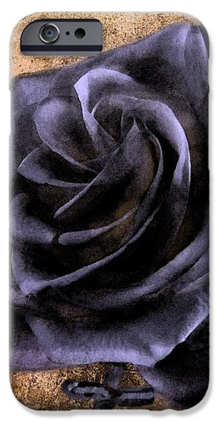 Black Rose Eternal   iPhone Case by David Dehner